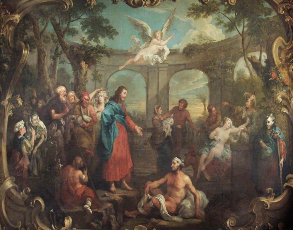 Hogarth, William, 1697-1764; Christ at the Pool of Bethesda